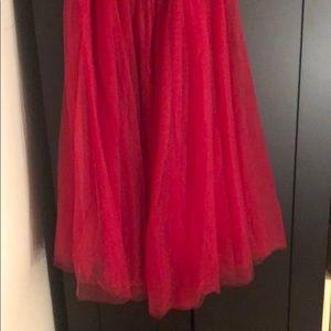 Azazie Skirts - Azazie bridesmaid skirt. Full length and super red